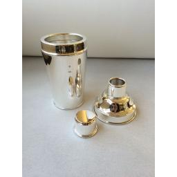 Sterling Silver Cocktail Shaker with feature Hallmark