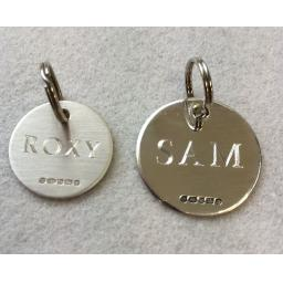 Sterling Silver Peronalised Dog Collar Tags