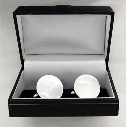 Round Sterling Silver Cufflinks