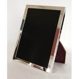 "Plain Sterling Silver Heavy Weight ½"" Border Photo Frame."