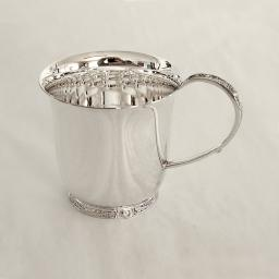 Sterling Silver Christening Cup with Celtic Handle