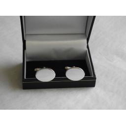 Oval Sterling Silver Cufflinks