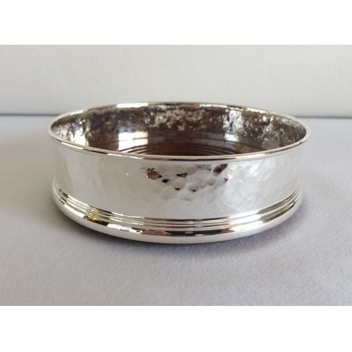 Sterling Silver Hammered finished Wine Coaster