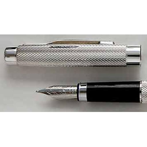 The William Manton Sterling Silver Fountain Pen