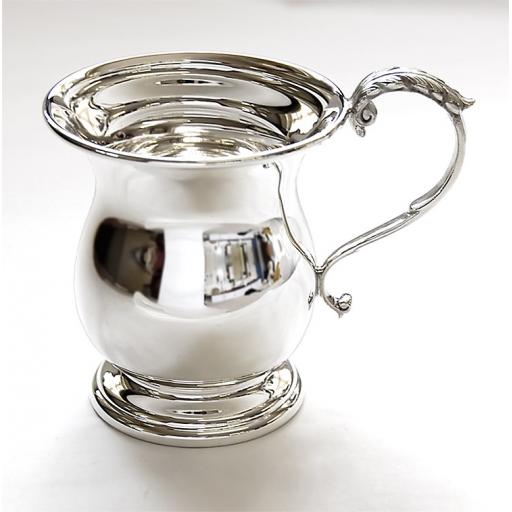 Large Sterling Silver Georgian Christening Cup