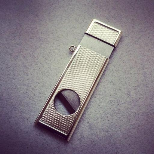 Silver Oblong Cigar Cutter