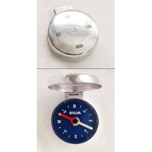 Sterling Silver Mounted Compass