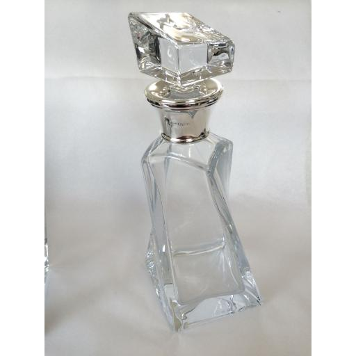 Pair of Lovers Decanters with Sterling Silver Mounts
