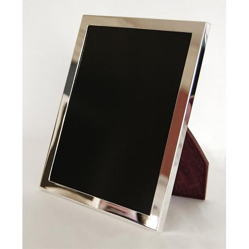 Plain Sterling Silver Heavy Weight Border Photo Frame