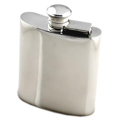 Sterling Silver Hip Flask - Kidney