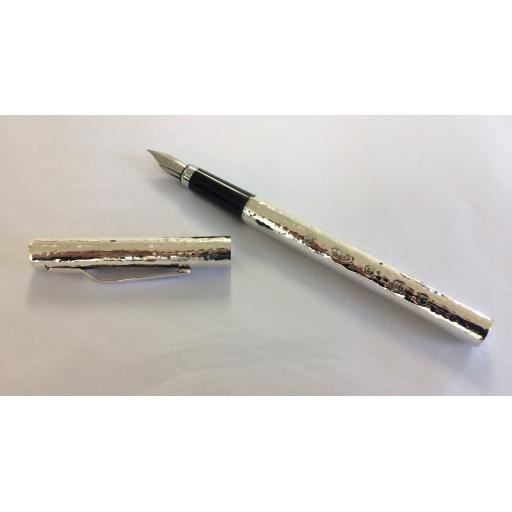 Hammered Finished Sterling Silver Pens