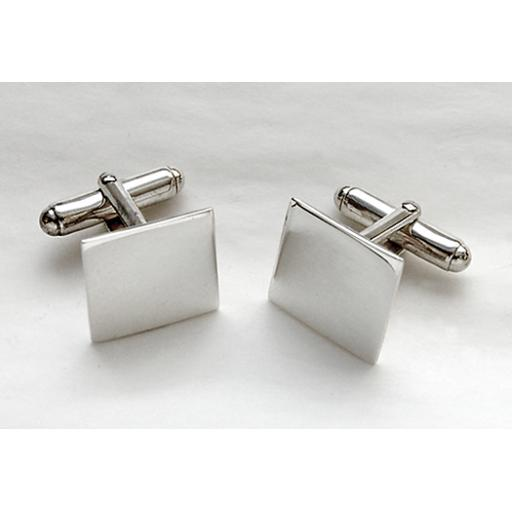 Square Sterling Silver Cufflinks.